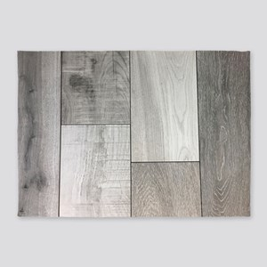 french white washed wood 5'x7'Area Rug
