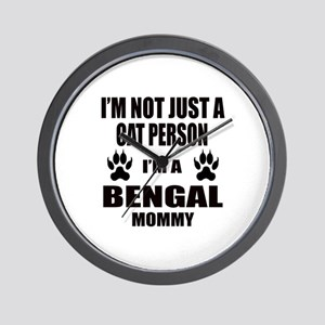 I'm a Bengal Mommy Wall Clock
