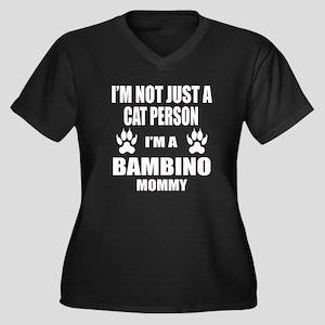 I'm a Bambin Women's Plus Size V-Neck Dark T-Shirt