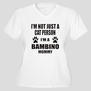 I'm a Bambino Mom Women's Plus Size V-Neck T-Shirt