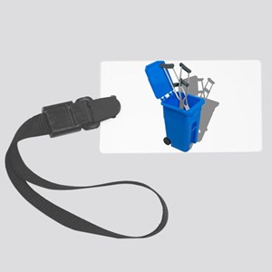 RecycledCrutches082010 Large Luggage Tag
