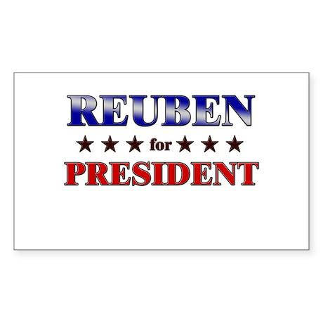 REUBEN for president Rectangle Sticker