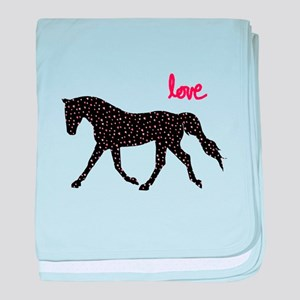 Horse with Hearts baby blanket