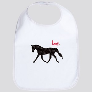 Horse with Hearts Baby Bib