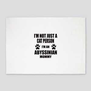 I'm an Abyssinian Mommy 5'x7'Area Rug