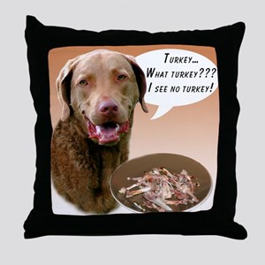 Chessie Turkey Throw Pillow