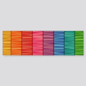 Rainbow Striped Pattern Bumper Sticker