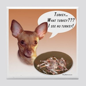 Chihuahua Turkey Tile Coaster