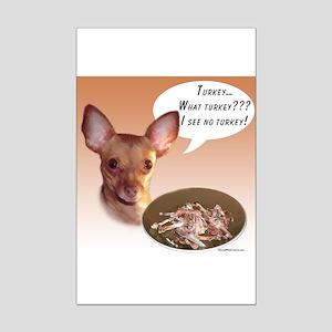 Chihuahua Turkey Mini Poster Print