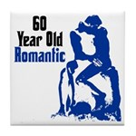 60 Year Old Romantic Tile Coaster