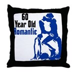 60 Year Old Romantic Throw Pillow
