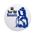 60 Year Old Romantic Ornament (Round)