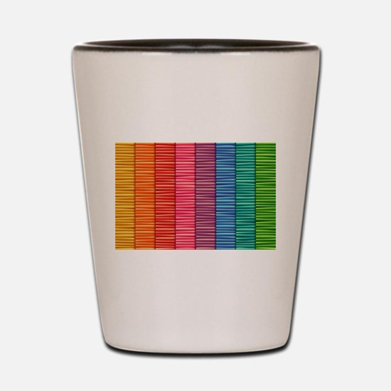 Rainbow Striped Pattern Shot Glass