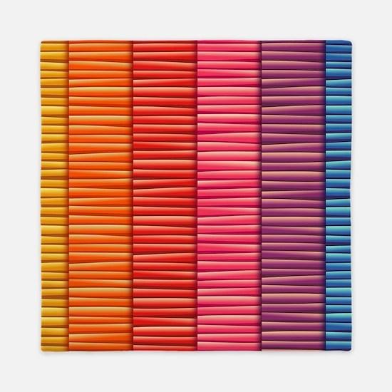 Rainbow Striped Pattern Queen Duvet