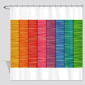 Rainbow Striped Pattern Shower Curtain