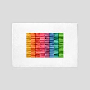 Rainbow Striped Pattern 4' x 6' Rug