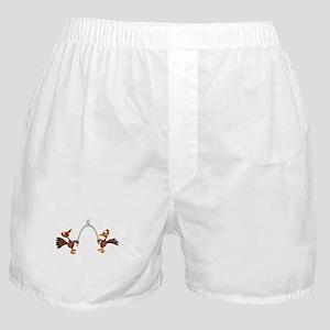 Turkeys Making Wish (Wishbone) Boxer Shorts