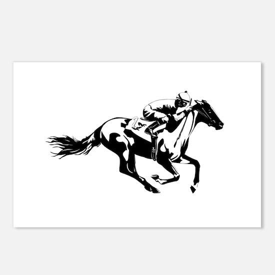 Horse Race Jockey Postcards (Package of 8)