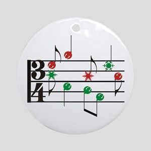 Christmas Music Ornament (Round)