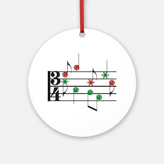 Christmas Music Ornament (Round)