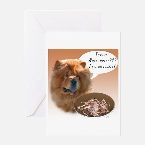 Chow Chow Turkey Greeting Card