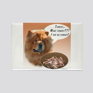 Chow Chow Turkey Rectangle Magnet