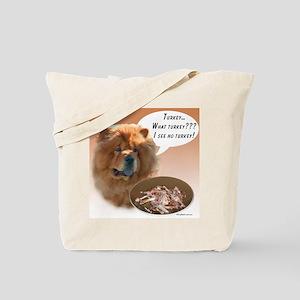 Chow Chow Turkey Tote Bag
