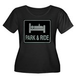 Park and Ride Women's Plus Size Scoop Neck Dark T-