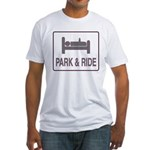 Park and Ride Fitted T-Shirt