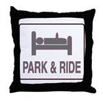 Park and Ride Throw Pillow