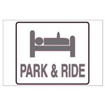 Park and Ride Large Poster