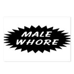 Male Whore Postcards (Package of 8)