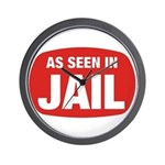 As Seen In Jail Wall Clock