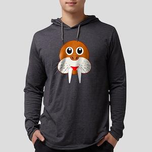 Cute Cartoon Walrus Head Long Sleeve T-Shirt
