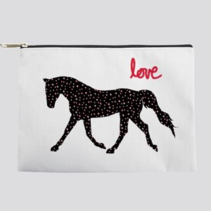 Horse with Hearts Makeup Bag