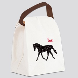 Horse with Hearts Canvas Lunch Bag
