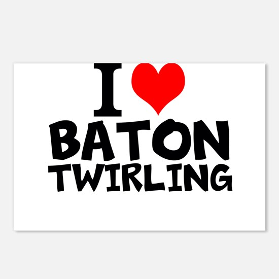 I Love Baton Twirling Postcards (Package of 8)
