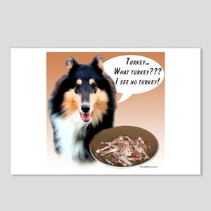 Collie Turkey Postcards (Package of 8)