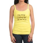 Faith Is Believing What You K Jr. Spaghetti Tank