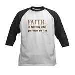 Faith Is Believing What You K Kids Baseball Jersey