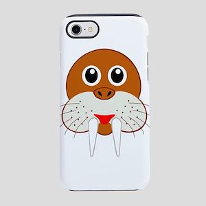 Cute Cartoon Walrus Head iPhone 8/7 Tough Case