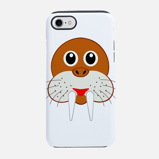 Cute Cartoon Walrus Head iPhone 8/7 Tough Case