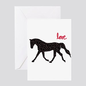 Horse with Hearts Greeting Cards