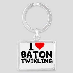 I Love Baton Twirling Keychains