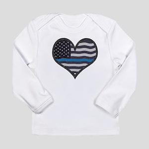 Thin Blue Line Heart Long Sleeve T-Shirt