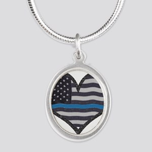 Thin Blue Line Heart Necklaces