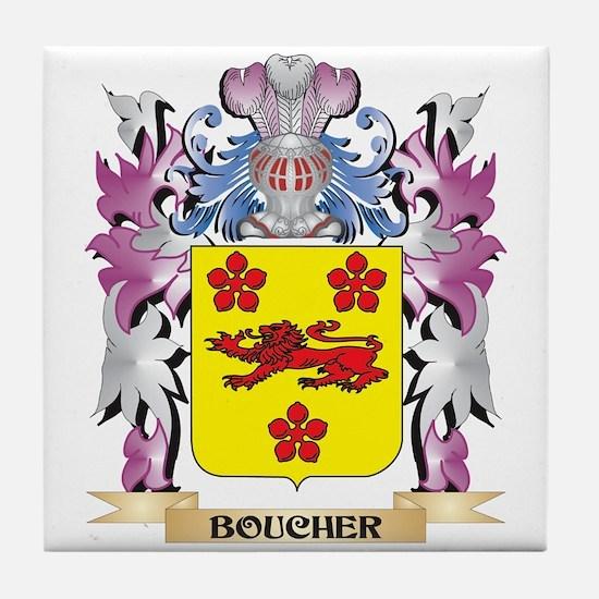 Boucher Coat of Arms (Family Crest) Tile Coaster