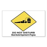 Blood Alcohol Experiment In P Sticker (Rectangular
