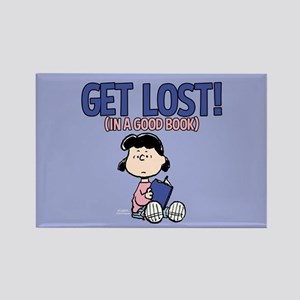 Lucy-Get Lost Rectangle Magnet