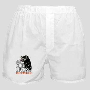 This Girl Loves Her Rottweiler Boxer Shorts